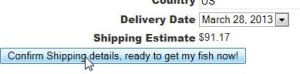 Figure 4.2: Confirm Goldfish Shipping Details
